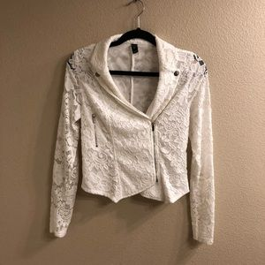 White Windsor lace cover up